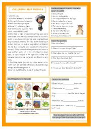 English Worksheet: Children�s Best Friends (Pets)