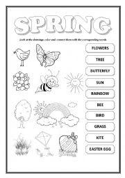 english worksheets spring. Black Bedroom Furniture Sets. Home Design Ideas