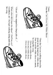 Pete The Cat I Love My White Shoes Vocabulary Words