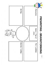 English Worksheets: Writing process step 1