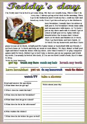English Worksheets: Teddy�s day