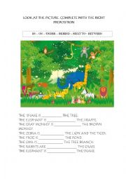 English Worksheets: WHERE ARE THE ANIMALS?