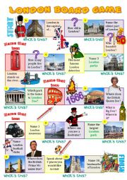 English Worksheets: London board game