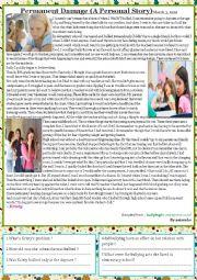 English Worksheet: bullying at school