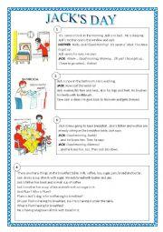 English Worksheets: JACK�S DAY