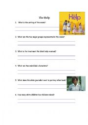 English Worksheets: Analysis of the heart-touching movie