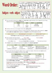 English Worksheets: Word Order