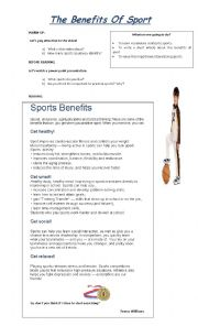 The Benefits Of Sport.