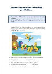 English Worksheet: Expressing opinions and making predictions
