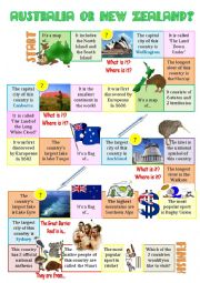 AUSTRALIA or NEW ZEALAND - board game