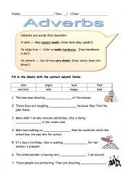 ESL kids worksheets: Adverbs