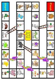 English Worksheet: Animal Plural games
