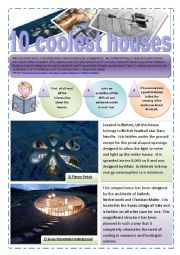 English Worksheet: HOUSES - 10 coolest underground houses (10 Pages) with images + exercises + Memory game