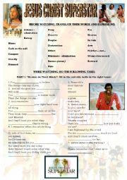 English Worksheets: JESUS CHRIST SUPERSTAR full movie worksheet