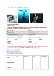 English Worksheet: webquest - extreme sports