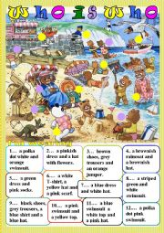 English Worksheet: who is who (mainly clothes)