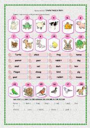 English Worksheets: AMINAL