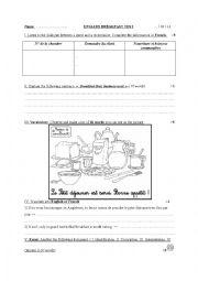 English Worksheet: English breakfast test 2