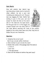 English Worksheets: Saint Martin Comprehension