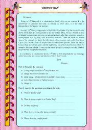 English Worksheets: Reading comprehension - fests