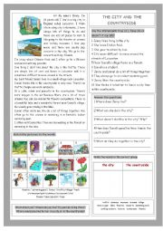English Worksheet: The City and the Countryside