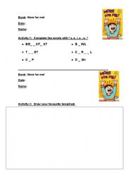 English Worksheets: More for me!