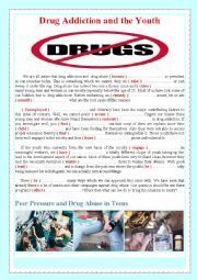 Addiction worksheets for youth