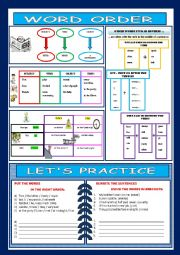 English Worksheets: Basic word order