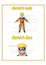 English Worksheets: Naruto�s body and face
