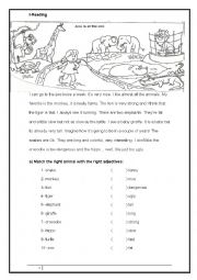 English Worksheets: Anna is at the zoo