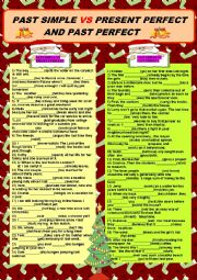 English Worksheet: Past Simple Vs Present Perfect and Past Perfect + KEY