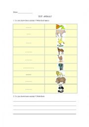 English worksheets: the animals worksheets, page 798