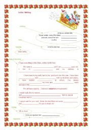 English Worksheet: SANTA CLAUS LETTER WRITING