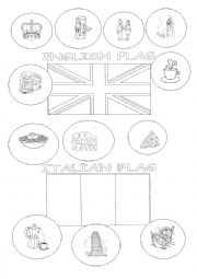 English Worksheet: ENGLISH AND ITALIAN FLAG