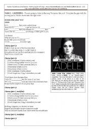 English Worksheets: Someone like you (Adele)