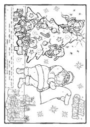 Christmas colouring! (colours, numbers 1-12)