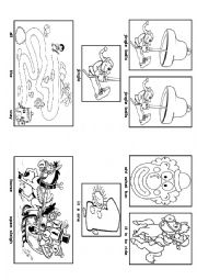 English Worksheet: Jingle Bells (Picture Song)