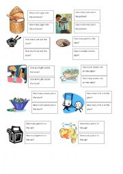 English Worksheet: Much versus Many matching activity Part 1