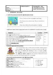 English Worksheet: FULL TERM TEST 7TH FORM