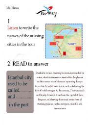English Worksheet: Turkey