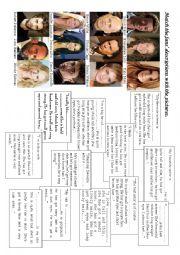English Worksheet: Physical Description Actors/Actresses Fans´ Description