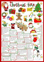 English Worksheet: Christmas time