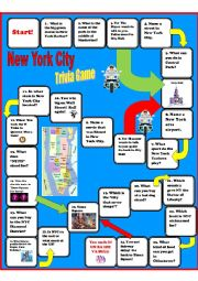 English Worksheet: New York Trivia Board Game