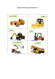 English Worksheet: KINDS OF VEHICLES AND TRANSPORT 4