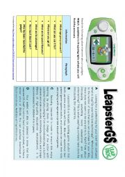 English Worksheet: Reading Advert: Gadget