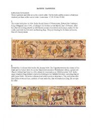 English Worksheet: bayeux tapestry
