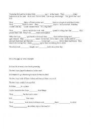 English Worksheet: movers practice