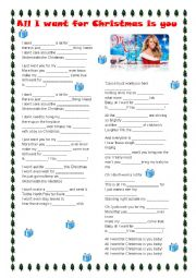 English Worksheet: All I want for Christmas is you - Mariah Carey