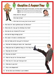 Merry Christmas Mr. Bean QA. 1 Page Plus Key.