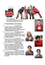 English Worksheet: The Big Bang Theory Pilot (Season 1 Episode 1)
